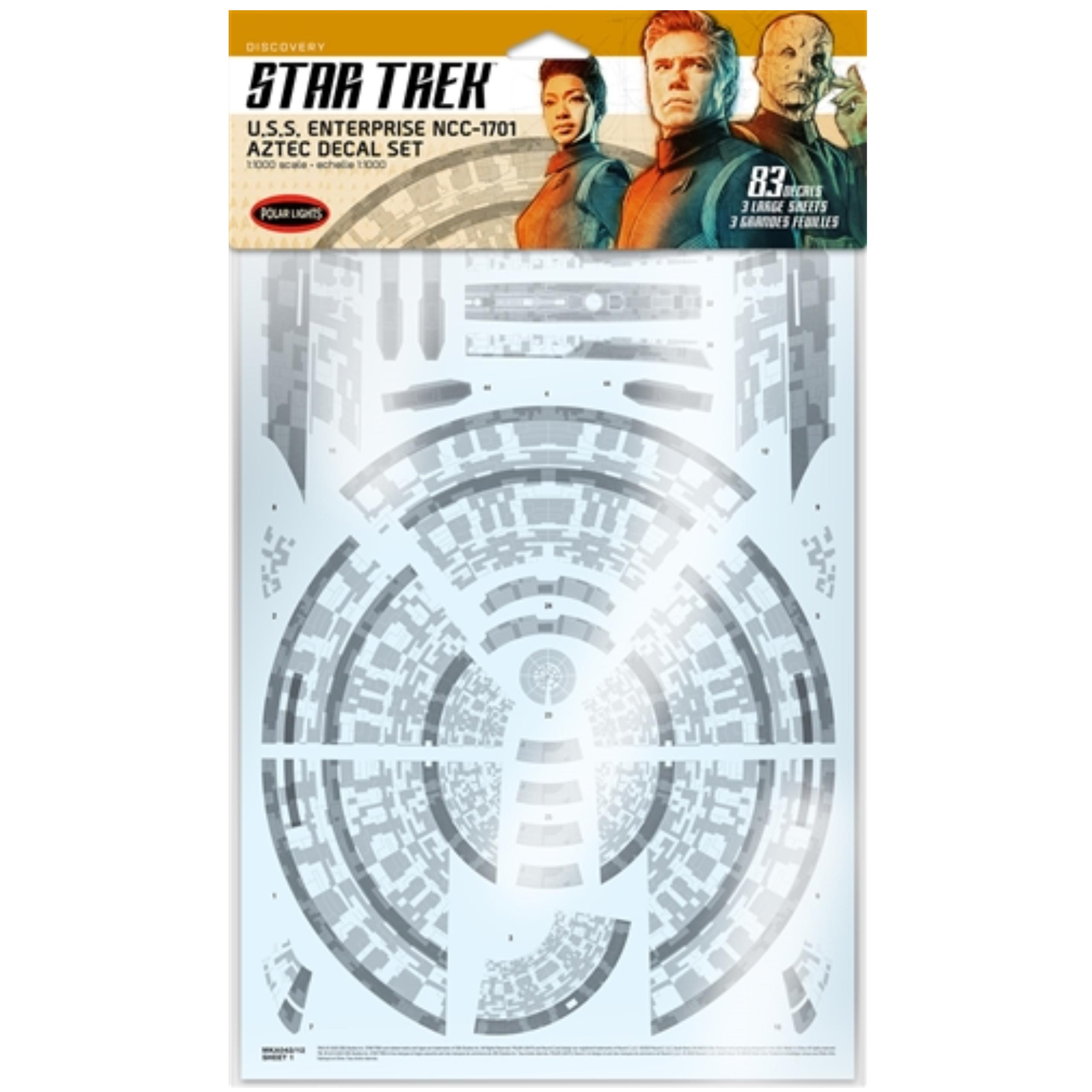 Star Trek Discovery U.S.S Enterprise Aztec Decal Set 1:1000 Scale MKA042